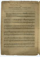 Eliza Wadsworth sheet music, 1798