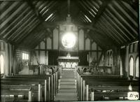 Interior of St. Philips-by-the-Sea, Biddeford, 1916
