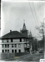 Construction of St. Andre's church, Biddeford, 1909-1910
