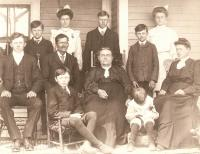 Charles F. and Frances Adams family, Easton, 1904