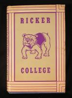 Ricker College book cover, Houlton, ca. 1970