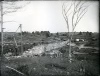 Building the new dam above the Old Falls, Sanford, 1906