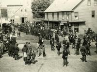 Parade Forming on Bridge Street, Springvale, ca. 1898