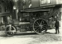 Steamroller in Sanford Square, 1910