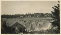 Dam at Union River, Ellsworth Falls, ca. 1920