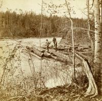 Jam at Chesuncook Carry, ca. 1890