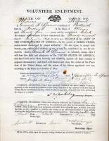 Volunteer enlistment form, Portland, 1862