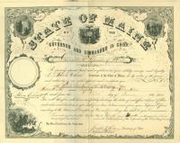 Civil War promotion certificate, 1864