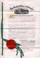 Sparrow button patent, 1876