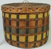 Penobscot band basket, ca. 1860