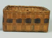 Penobscot square band basket, ca. 1880