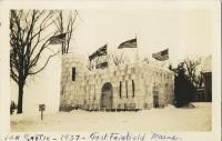 Ice Castle in Fort Fairfield during Winter Carnival, 1937