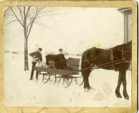 Milk delivery sleigh, Biddeford, ca. 1895