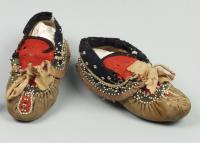 Penobscot child's moccasins, ca. 1870
