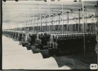 Spinning room in Pepperell Mills, Biddeford, 1910
