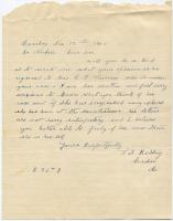Request for information about sanatorium patient, 1908