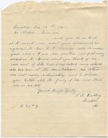Request for information about sanatorium patient, 1908