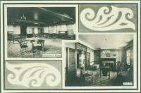 Assembly room, parlor, Maine State Sanatorium, Hebron, ca. 1909