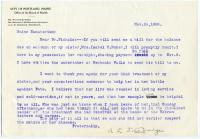 Request for final sanatorium bill, 1908