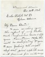 Former patient report on condition, 1908