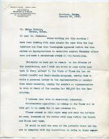 Letter concerning opposition to sanatorium funds, 1909