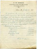 Construction estimate, Maine Sanatorium, 1909