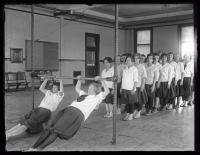 Maine School for Deaf gym class, Portland, 1925