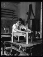 Wood shop, Maine School for the Deaf, 1925