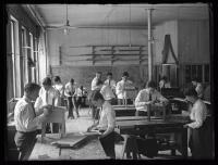 Wood shop, Maine School for the Deaf, Portland, 1925