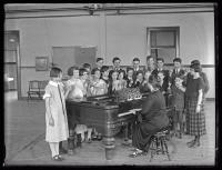 Music class, Maine School for the Deaf, Portland, 1925