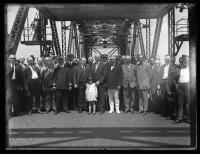 Opening ceremony, World War Memorial Bridge, Portsmouth, 1923