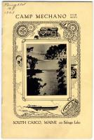 Camp Mechano for Boys brochure cover, 1923