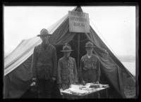 Tourist information tent, Portland, 1921