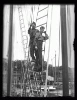 Crew in the rigging of the Bowdoin, Wiscasset, 1926