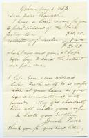 Letter of payment from brick factory, 1864