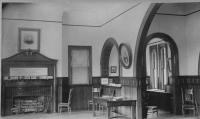Old Dyer Library interior, Saco, ca. 1900