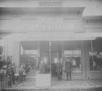 Webber Men's & Boy's Clothing Store, Saco, ca. 1890