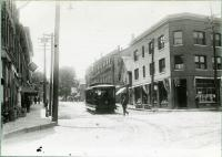 Trolley, Main and Alfred Streets, Biddeford, 1912