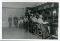 Staff of Biddeford Telephone Exchange, ca. 1900