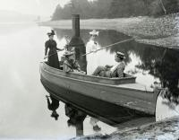 Fred Philpot and friends, Mousam Lake, ca. 1900