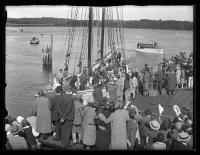 Schooner Bowdoin departing Wiscasset, 1926