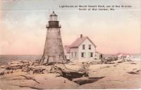 Lighthouse on Mount Desert Rock, ca. 1930