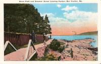 Shore Path and Steamer Morse, Bar Harbor, ca. 1940