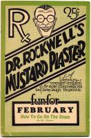 Dr. Rockwell's Mustard Plaster, February 1929