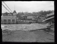 Flooded downtown Ellsworth, 1923