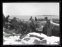 Stripping blubber, Ragged Island, 1927