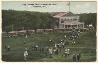 Cape Cottage Theatre after the show, ca. 1910