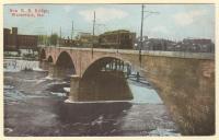 New Railroad Bridge, Waterville, ca. 1913