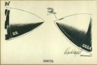Wright cartoon on Samantha Smith, 1983