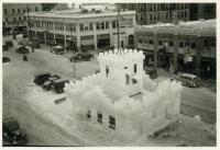 Lewiston ice palace, Main Street, 1926